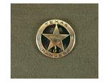 Texas Rangers Badge (Metal) Premium Giclee Print by  American