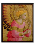 Annunciatory Angel, 1450-55 (Gold Leaf and Tempera on Wood Panel) (See also 139312) Giclée-Druck von  Fra Angelico