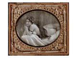 Reclining Nude, C.1850, from a Book of Photography Published in 1980 (Photo) Giclee Print by  French