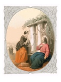 Christ and Woman of Samaria Giclee Print by Lorenz Clasen