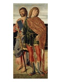 St. Matthew and St. Sebastian, C.1499 (Tempera on Wood Panel) Giclee Print by Cristoforo Caselli
