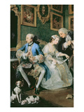 Marriage a La Mode: I - the Marriage Settlement, c.1743 (Detail) Giclee Print by William Hogarth