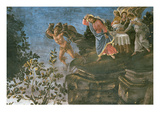 The Purification of the Leper and the Temptation of Christ, in the Sistine Chapel, 1481 Giclee Print by Sandro Botticelli
