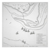 Plan of the Attack on Sullivan's Island (Litho) Giclee Print by  American