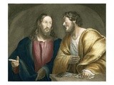 Jesus Recruiting Matthew as a Disciple Giclee Print by Giovanni Antonio Pordenone