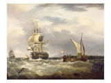 Dutch Emigrant Ship Dropping the Pilot and Leaving Her Homeland Astern (Oil on Canvas) Giclee Print by George Webster