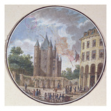 The Donjon of the Temple, Paris (Colour Engraving) Giclee Print by  French