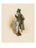 Trotty Veck, Illustration from 'Character Sketches from Charles Dickens', C.1890 (Colour Litho) Giclee Print by Joseph Clayton Clarke