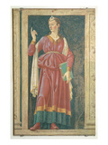 The Cuman Sibyl, from the Villa Carducci Series of Famous Men and Women, C.1450 (Fresco) Giclee Print by Andrea Del Castagno