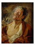 Job, C.1620 (Oil on Oak Panel) Giclee Print by Jacob Jordaens