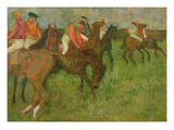 Jockeys, 1886-90 Giclee Print by Edgar Degas