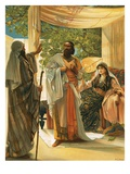 Elijah Rebuking Ahab Giclee Print by Mary L. Gow