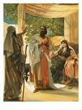 Elijah Rebuking Ahab Giclee Print by Mary L. Gow