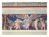 Frieze from the 'Camera Con Fregio Di Amorini' (Chamber of the Cupid Frieze) Giclée-tryk af Giulio Romano