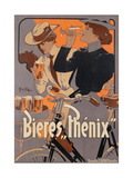 Poster Advertising Phenix Beer, C.1899 (Colour Litho) Gicl&#233;e-Druck von Adolf Hohenstein