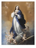 The Immaculate Conception (Oil on Canvas) Giclee Print by Bartolome Esteban Murillo