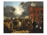 First State Election in Detroit, Michigan, c.1837 Giclee Print by Thomas Mickell Burnham