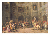 Louis Xiii at the Chateau of Blois, 1874 Giclee Print by Louis Eugene Gabriel Isabey
