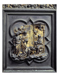 The Adoration of the Magi, Third Panel of North Doors of the Baptistery of San Giovanni, 1403-24 Giclée-tryk af Lorenzo Ghiberti