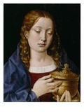 Catherine of Aragon as the Magdalene (Oil on Oak Panel) Giclee Print by Michiel Sittow