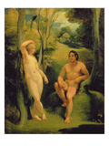 Adam and Eve in the Garden of Eden Giclee Print by Thomas Stothard