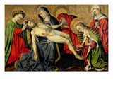 The Tarascon Pieta, Provencal School (Oil on Panel) Premium Giclee Print by  French