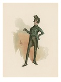 Mr Alfred Jingle, Illustration from 'Character Sketches from Charles Dickens', C.1890 Giclee Print by Joseph Clayton Clarke