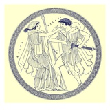 Theseus and Aethra, Illustration from 'Greek Vase Paintings' Giclee Print by  English