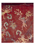 Fresco from the Palace of Tepantitla (Fresco) 407318 Little Figures Giclee Print by  Teotihuacan