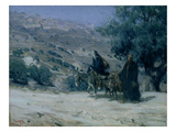 Flight into Egypt, 1899 (Oil on Canvas) Reproduction procédé giclée par Henry Ossawa Tanner
