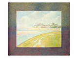 View of Le Crotoy, from Upstream, 1889 (Oil on Canvas) Giclee Print by Georges Pierre Seurat