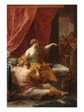 Samson and Delilah, 1766 (Oil on Canvas) Giclee Print by Pompeo Girolamo Batoni