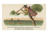 There Was a Young Lady of Portugal, Whose Ideas Were Excessively Nautical Giclee Print by Edward Lear