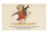 There Was an Old Man of Peru, Who Never Knew What He Should Do Giclee Print by Edward Lear