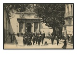 Postcard Depicting the Gate of the Naval Arsenal, Toulon, C.1900 (Photolitho) Giclee Print by  French Photographer