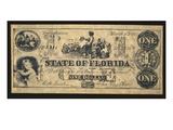 Confederate Paper Money, 1st March, 1863 (Litho) Giclee Print by  American