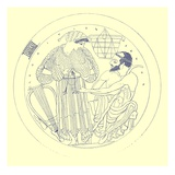 Interior of Cylix by Euphronios, Illustration from 'Greek Vase Paintings' Giclee Print by  English