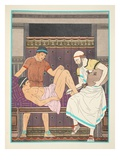 Having an Enema, Illustration from 'The Works of Hippocrates', 1934 (Colour Litho) Giclee Print by Joseph Kuhn-Regnier
