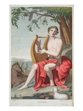 Orpheus, Illustration from Ovid's Metamorphoses, Florence, 1832 (Hand-Coloured Engraving) Giclee Print by Luigi Ademollo