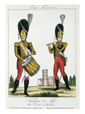 Swiss Guard, Tambour and Fife Players, C.1790 (Colour Litho) Giclee Print by  French
