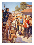 Rebels Capture a British Soldier During the Taiping Rebellion in China (W/C on Paper) Giclee Print by W. R. S Scott