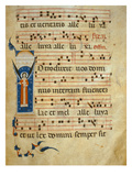 Fol 4V. Gradual, C.1260 (Vellum) Giclee Print by  Italian
