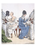 A Fashionable Lady, Pub. 1807 (Coloured Etching) Giclee Print by Richard Dighton