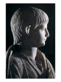 Togate Statue of the Young Nero, Side View of the Head, C.50 Ad (Marble) (Detail of 140378) Giclee Print by  Roman