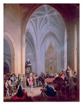 The Letter of the Catholic Kings Ordering the Inhabitants of Palos to Supply Two Ships Giclee Print by Antonio Cabral Bejarano