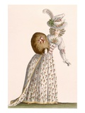 Lady&#39;s Gown Embroidered with Small Flowers, from &#39;Galeries Des Modes Et Costumes Francais&#39; Giclee Print by Jean Florent Defraine