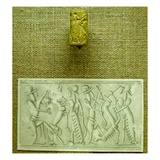 Cylinder Seal with Impression (Faience) Giclee Print by  Mesopotamian