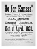 Poster Issued by Benjamin 'Pap' Singleton, 1878 (Print) Giclee Print by  American