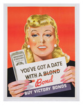 You'Ve Got a Date with a Bond', Poster Advertising Victory Bonds (Colour Litho) Giclee Print by  Canadian