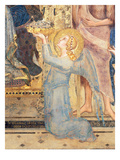 Maesta: Angel Offering Flowers to the Virgin, 1315 (Fresco) (Detail of 51591) Giclee Print by Simone Martini